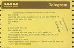 Telegram from Letty and Bert Pogrebin, Founding Editors of Ms. Magazine, to Geraldine Ferraro