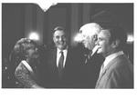 "Geraldine Ferraro, Vice President Walter Mondale (D-MN), Representative Thomas Philip (""Tip"") O'Neill, Jr. (D-MA), and Senator Russell Billiu Long (D-LA) at a 1983 Congressional Meeting by Geraldine Ferraro"